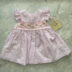 3-6M NWT Laura Ashley Smocked Dress with Bloomers